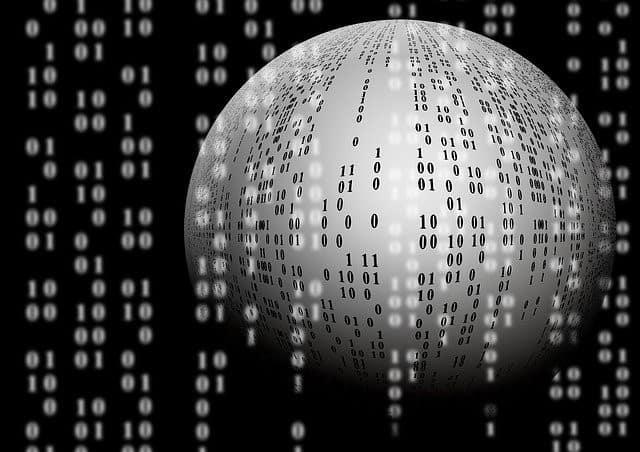 Binary Code in a Grey Sphere